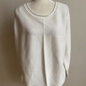 Cyrus New white Sweater 2X Plus BNWT ribbed knit